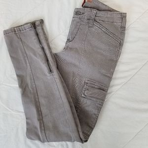 WORN JEAN gray cargo skinny pants
